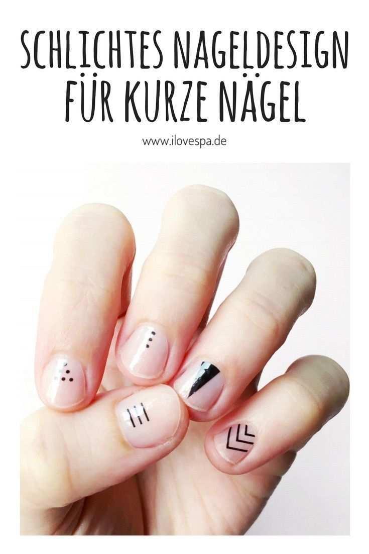 Schlichtes Nageldesign Fur Kurze Nagel Selber Machen Schlichte Manikure Fur Kurze Nagel Nageldesig Minimal Manicure Short Nail Manicure Simple Nail Designs