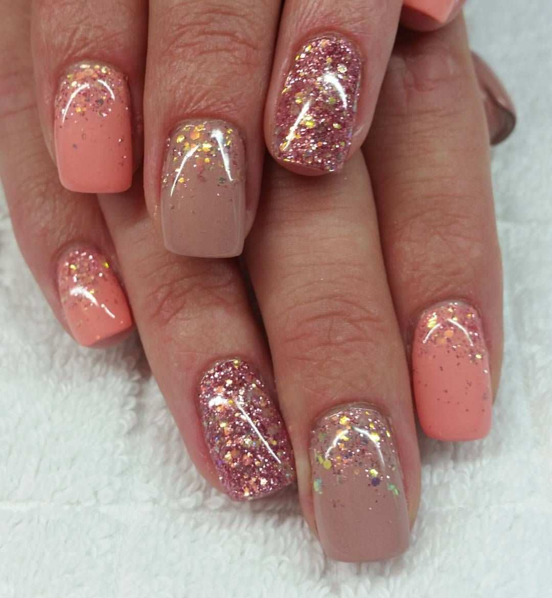 Fingernagel Gelnagel Naturnagel Fullcover Glitzer Naildesigns Carmenirmscher Natural Nails Nails Gel Nails