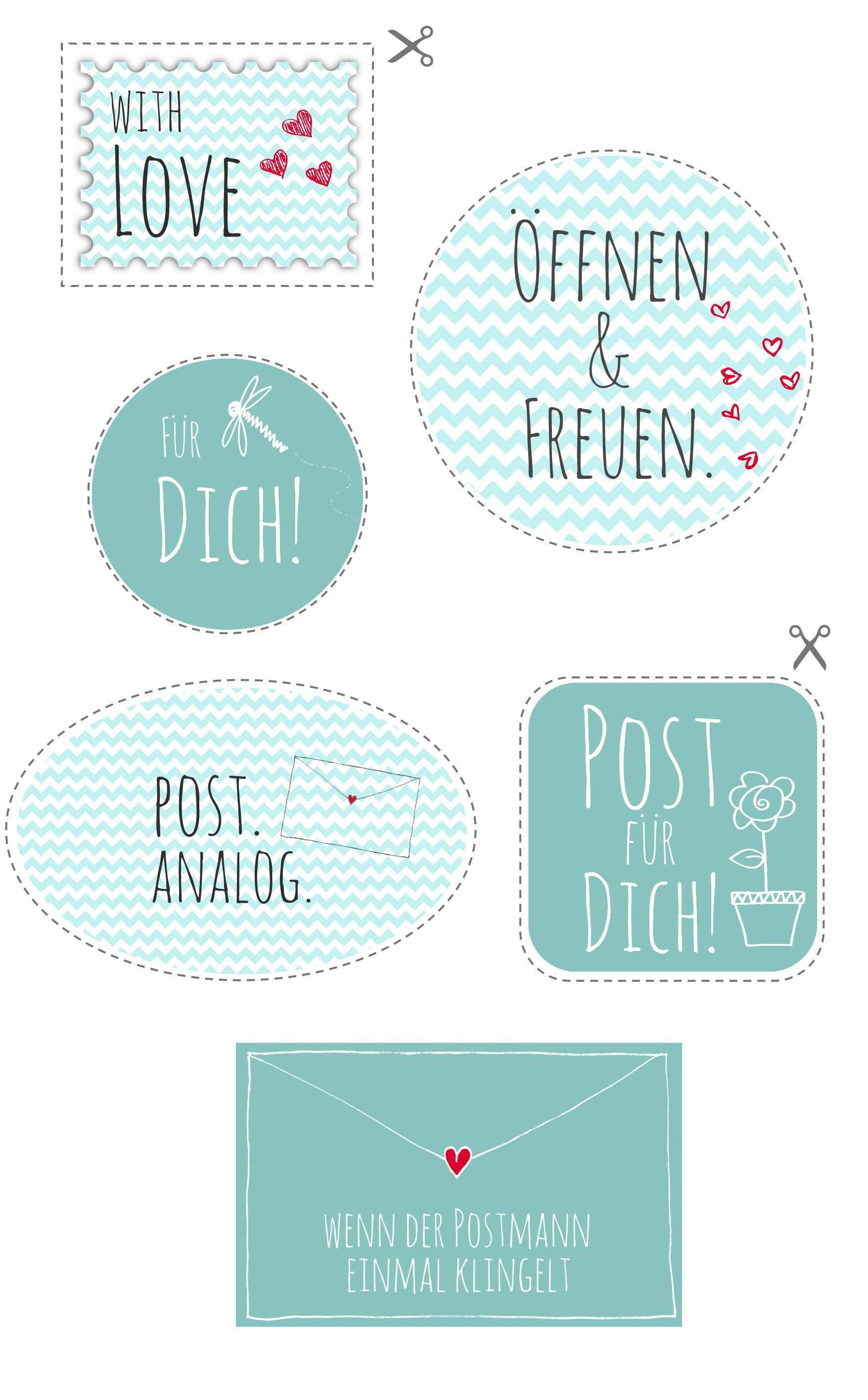 Printable Fur Analoge Post Printable For Sending Letters Via Blog Dawanda Com Etiketten Vorlagen Aufkleber Kostenlose Druckbare Etiketten