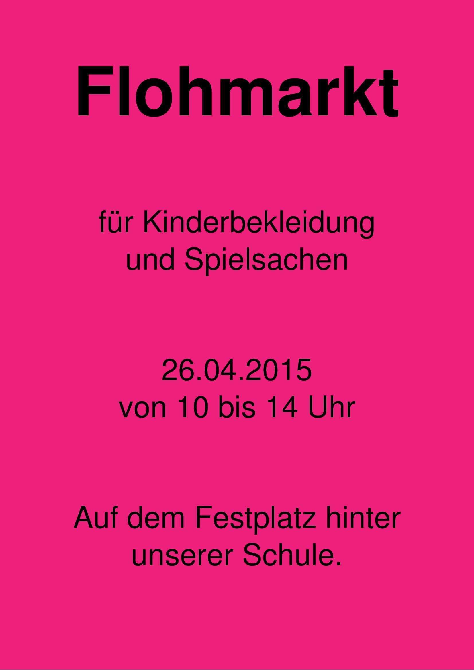 Flohmarkt By Astra On 365layouts Flyer Flea Market Templates