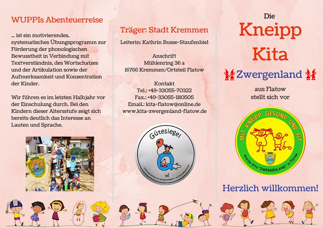 Flyer Kita Zwergenland Konzeption Phonologische Bewusstheit Motivieren