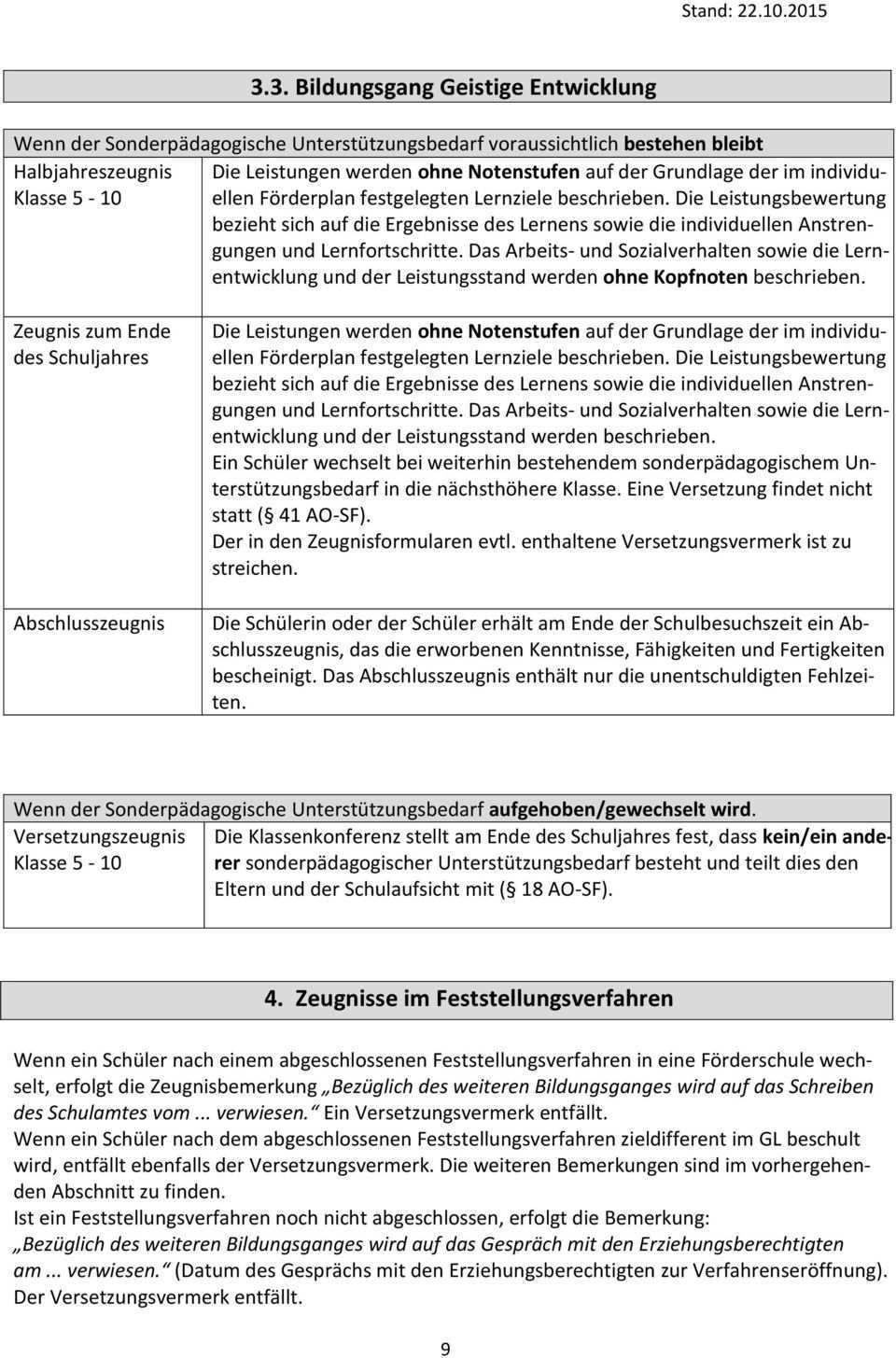 Hinweise Zur Zeugniserstellung Fur Schulerinnen Und Schuler Mit Sonderpadagogischem Unterstutzungsbedarf Pdf Kostenfreier Download