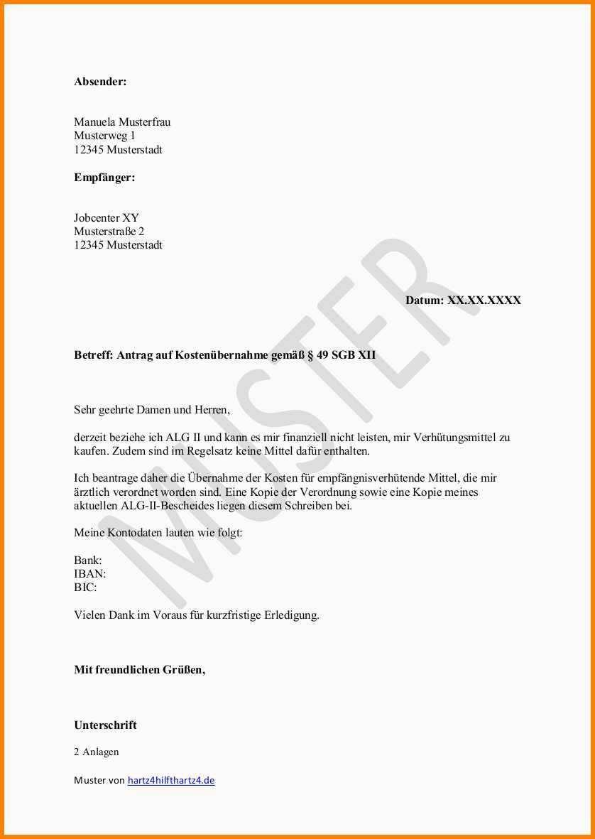 Frisch Formloser Antrag Kostenubernahme Muster Vorlagen Lebenslauf Jobcenter Flugblatt Design