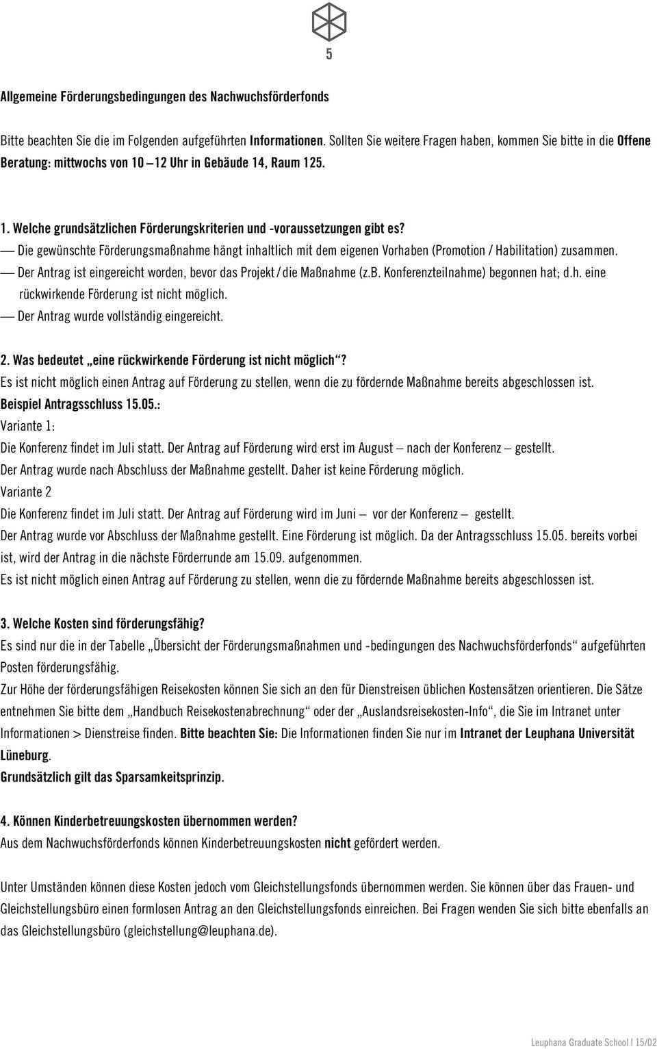 Antrag Auf Forderung Einer Qualifizierungsmassnahme Fur Nachwuchswissenschaftlerinnen Und Nachwuchswissenschaftler Der Leuphana Universitat Luneburg Pdf Kostenfreier Download