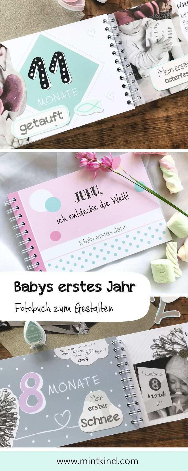 Fotobuch Baby 1 Jahr Vorlage