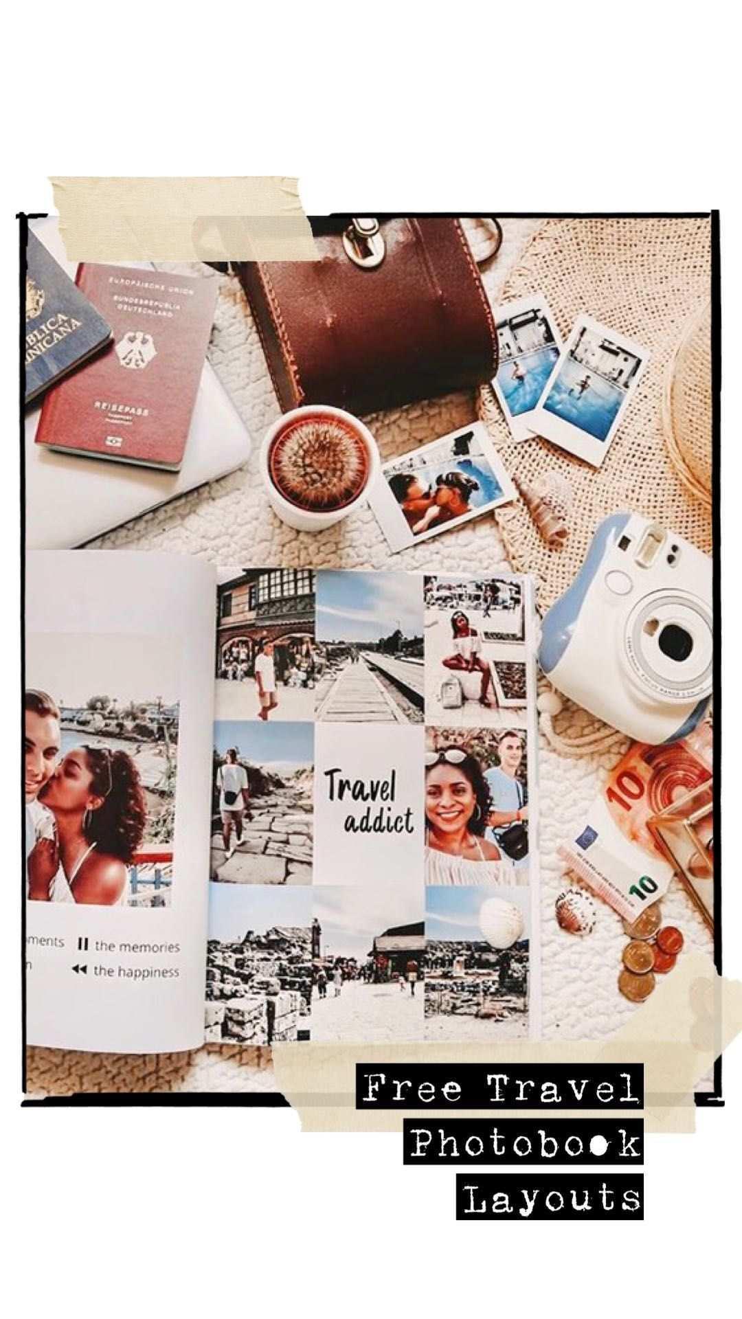 Travel Photobook Layouts Fotobuch Fotobuch Gestalten Fotoalbum Gestalten Ideen