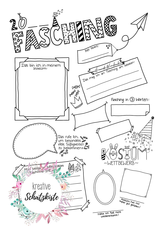 Sketchnote Fragebogen Fasching Karneval Fastnacht Doodle Unterrichtsmaterial Im Fach Fachubergreifendes Sketch Note Fasching Fragebogen