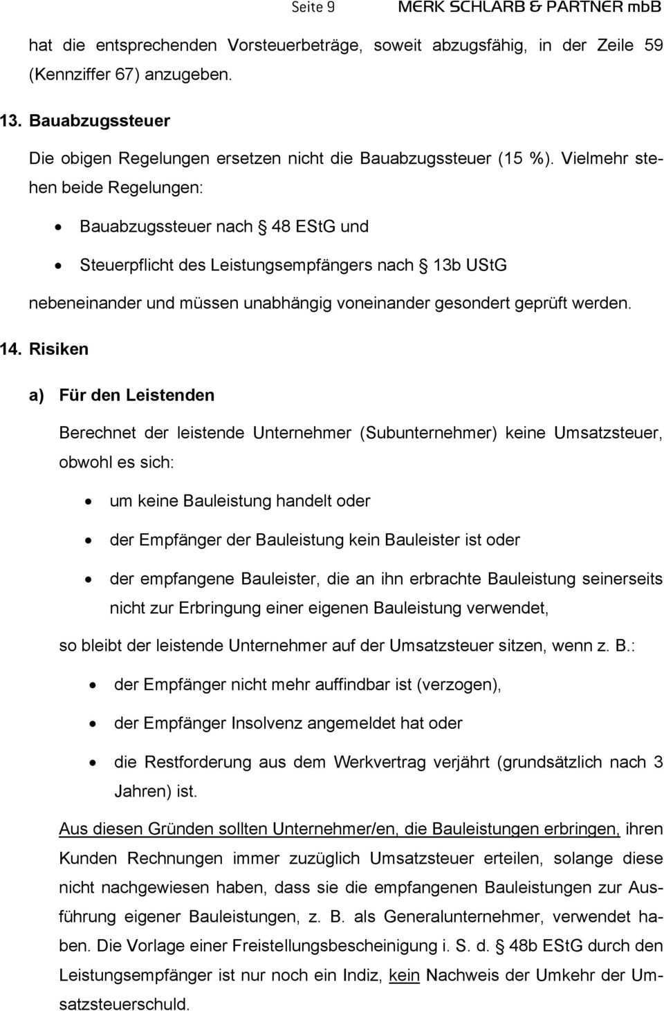 Steuerschuldnerschaft Nach 13b Ustg Des Leistungsempfangers Bei Bauleistungen Pdf Kostenfreier Download