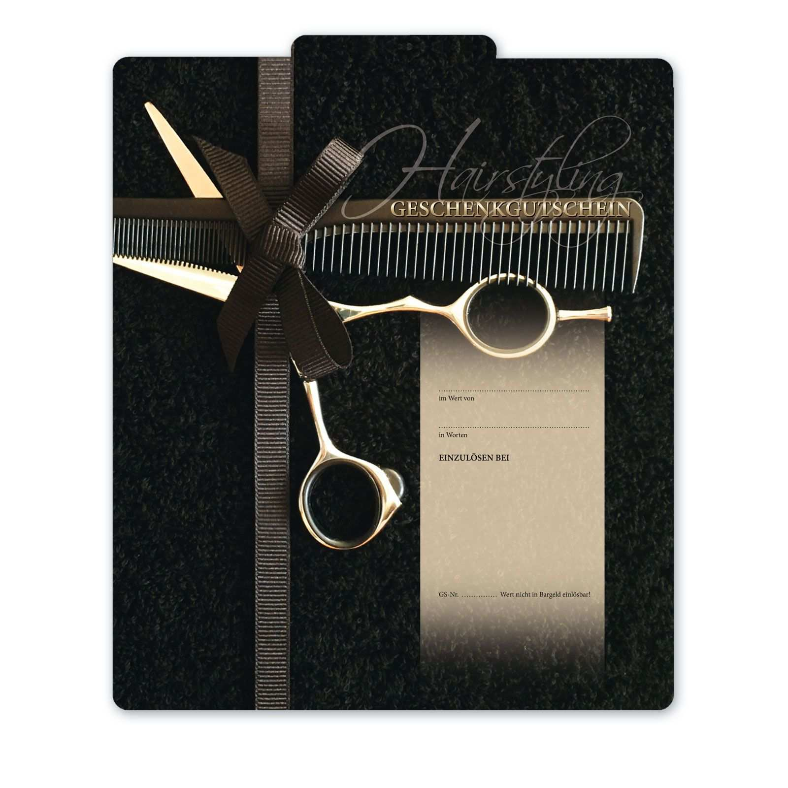 Geschenkgutschein Fur Friseure K292 Geschenkgutscheine Gutschein Basteln Friseur Gutscheine