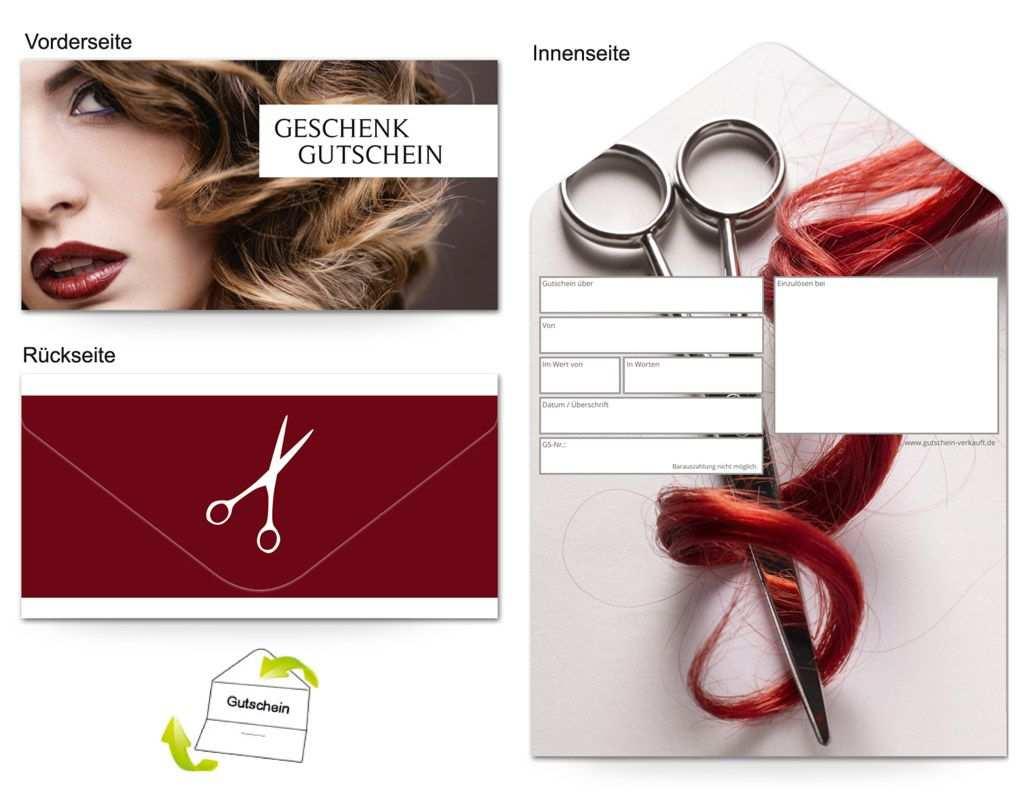 Motiv Friseur Hairdresser Gutscheinvorlagen Gutscheine Gutschein Vorlage Geschenkgutscheine