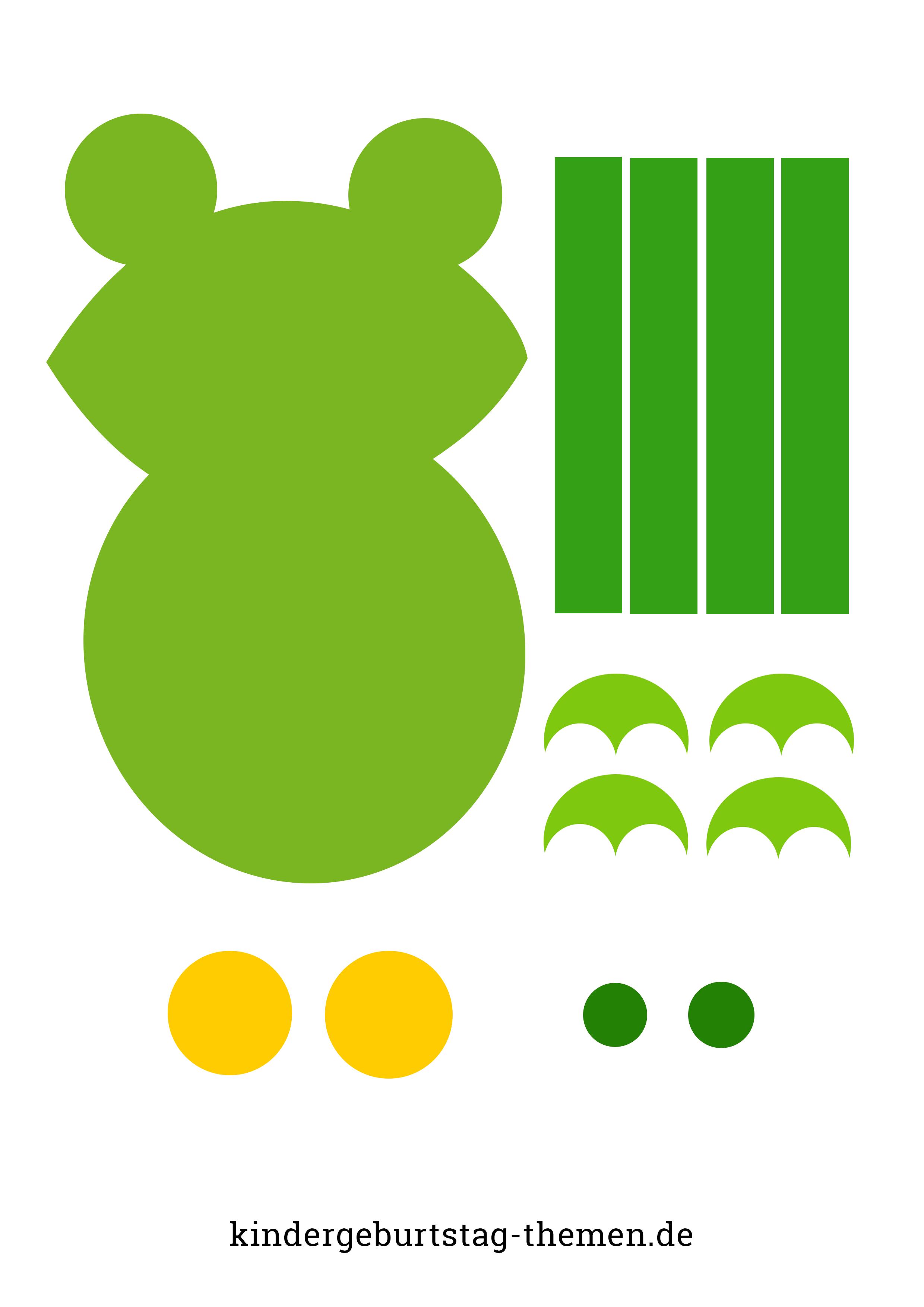 Frosch Basteln Mit Kindern Vorlage Und Anleitung