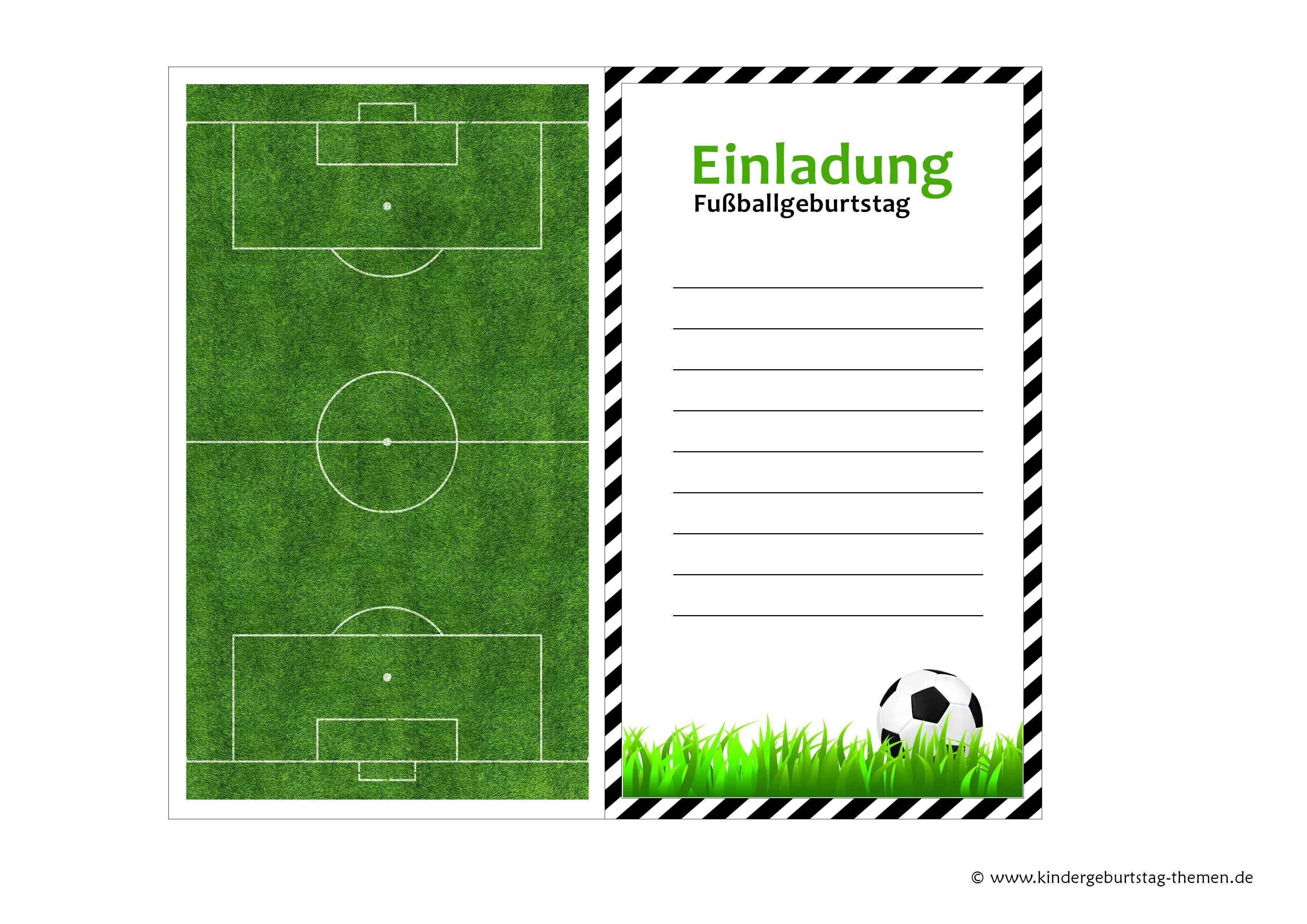 Fussball Einladung Kostenlose Vorlagen Zum Ausdrucken Geburtstagseinladungen Zum Ausdrucken Einladungskarten Kindergeburtstag Einladungskarten Geburtstag Selbst Gestalten