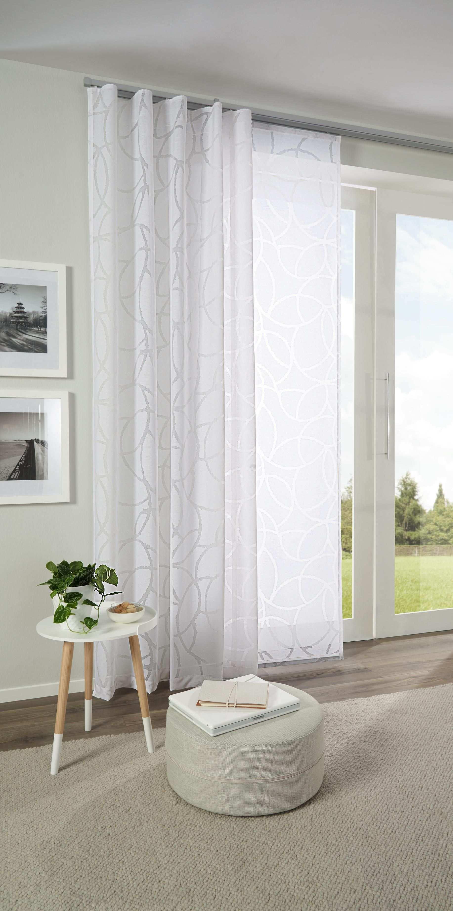 Hubscher Vorhang Mit Zartem Muster In Weiss Von Esposa Gardinen Wohnzimmer Modern Vorhange Schlafzimmer Gardinen Wohnzimmer