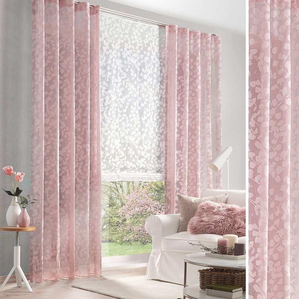 Florale Gardine Fur Ihr Wohnzimmer Vorhange Haus Deko Vorhange Gardinen