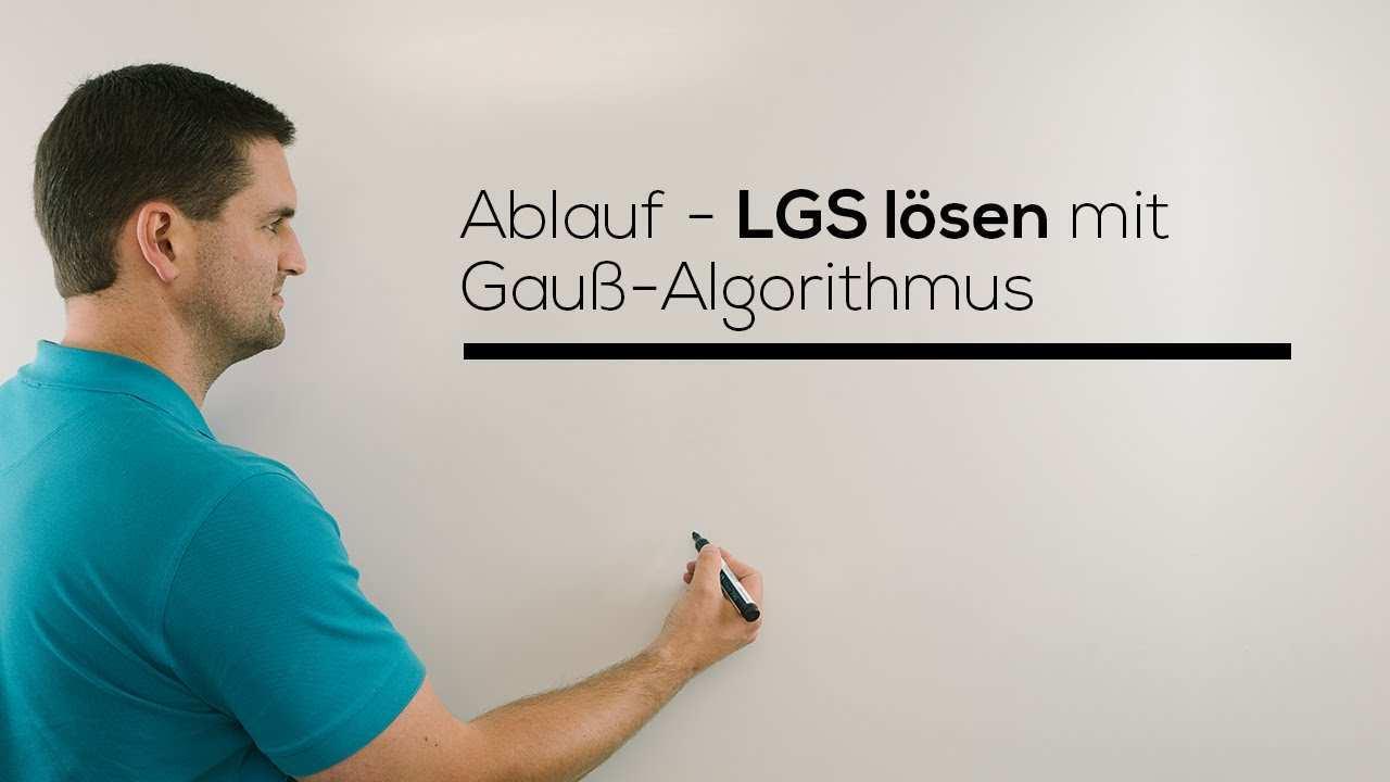 Gauss Algorithmus Lineares Gleichungssystem Losen Einfach Schnell Erklart Mathe By Daniel Jung Youtube