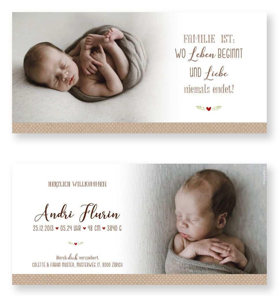 Geburtskarte Andri Geburtskarten Geburtsanzeige Geburtsanzeigen