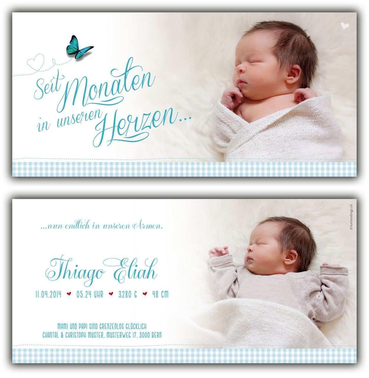2 Seitig Kartendings Das Ding Fur Kartendesign Geburtskarte Geburtsanzeige Dankeskarte Geburtskarten Geburtsanzeigen Kreative Geburtskarten