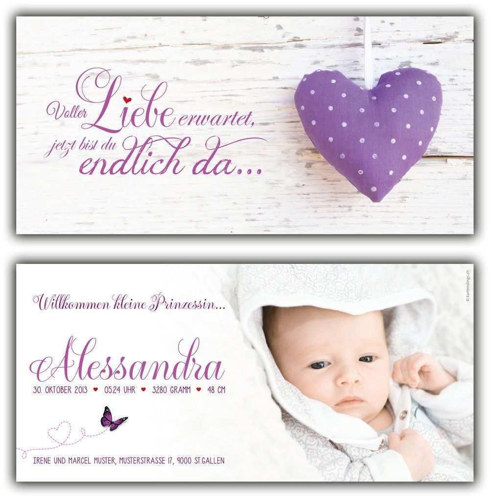 Geburtskarte Spruch Geburtskarten Geburtsanzeige Ideen Geburtsanzeige