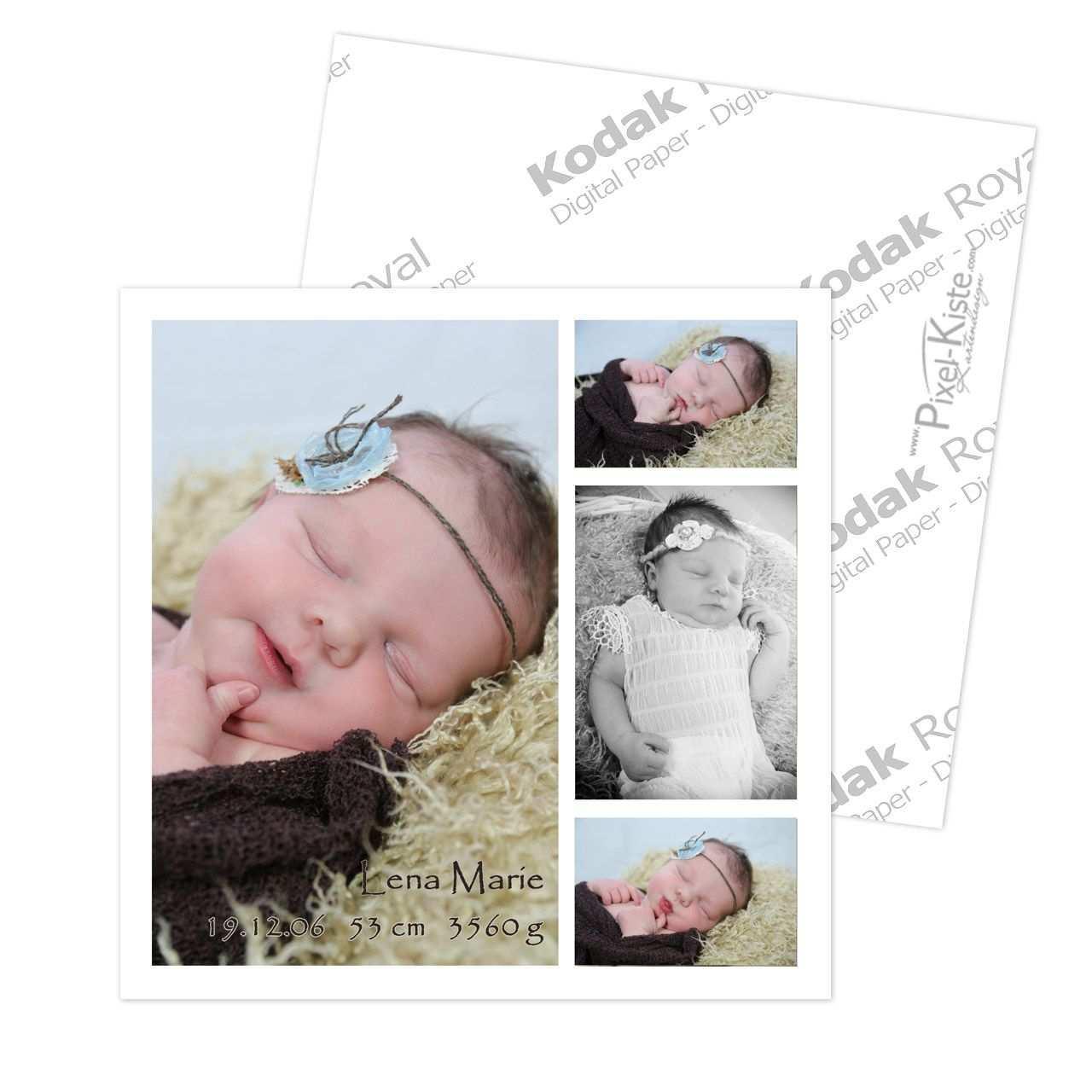 Geburtsanzeige Karte Quadratisch Geburtsanzeige Geburtsanzeigen Geburtsanzeigekarten