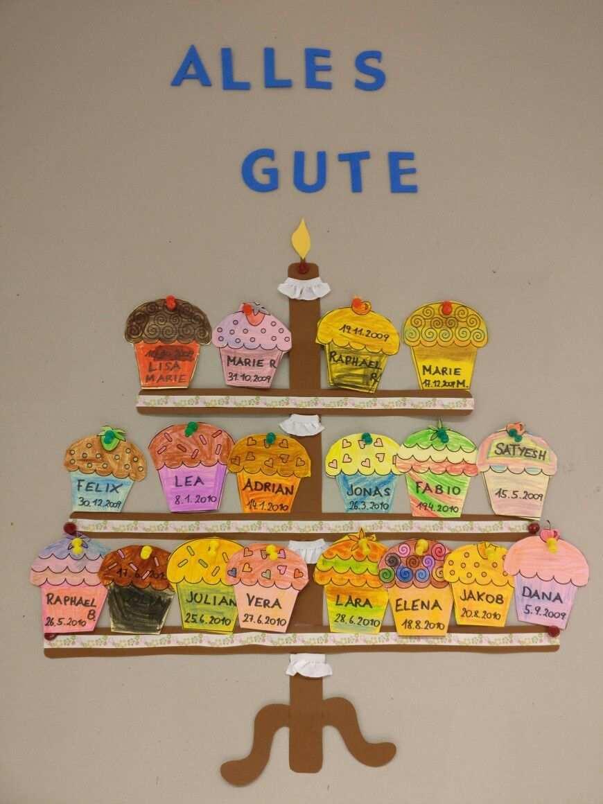 Geburtstagskalender Geburtstagskalender Schule Basteln Geburtstagskalender Geburtstagskalender Basteln
