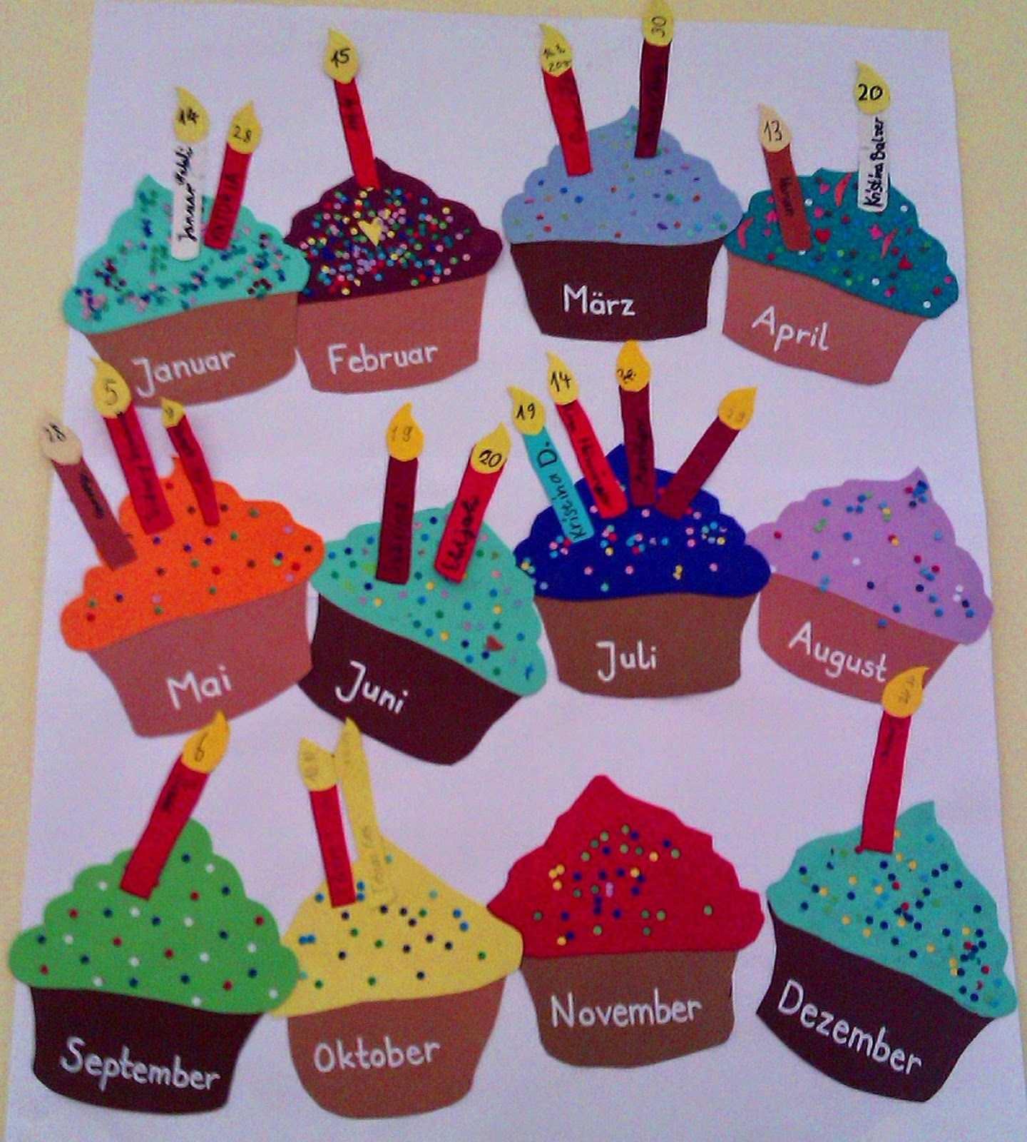Bastelt Euch Einen Bunten Geburtstagskalender Fur Die Klasse Als Ich Letztes Jahr Ei Geburtstagskalender Geburtstagskalender Basteln Geburtstagskalender Kinder