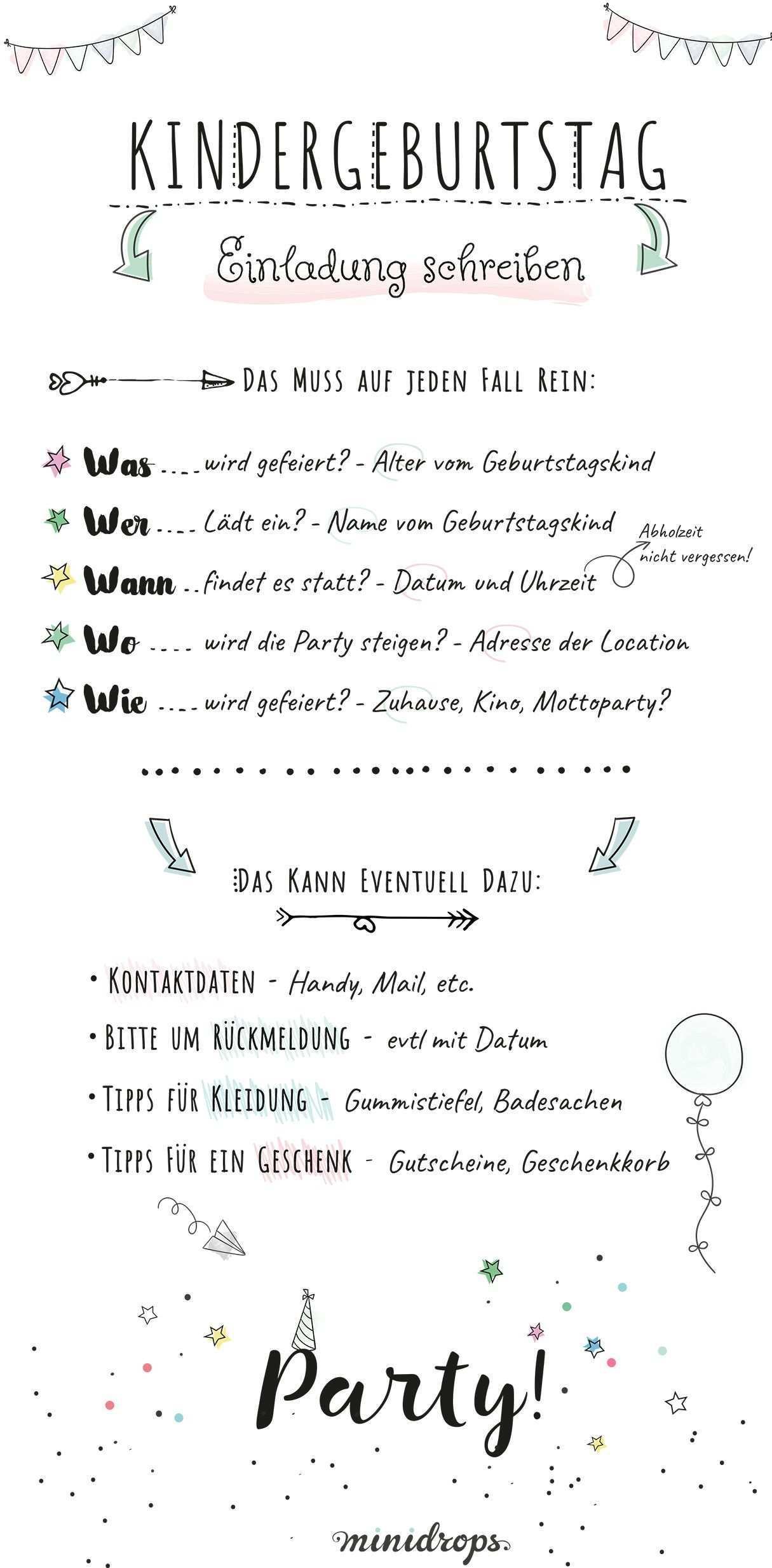 Text Ideen Fur Die Einladung Zum Kindergeburtstag Minidrops Einladungskarten Kindergeburtstag Text Einladung Kindergeburtstag Text Einladungstext Kindergeburtstag