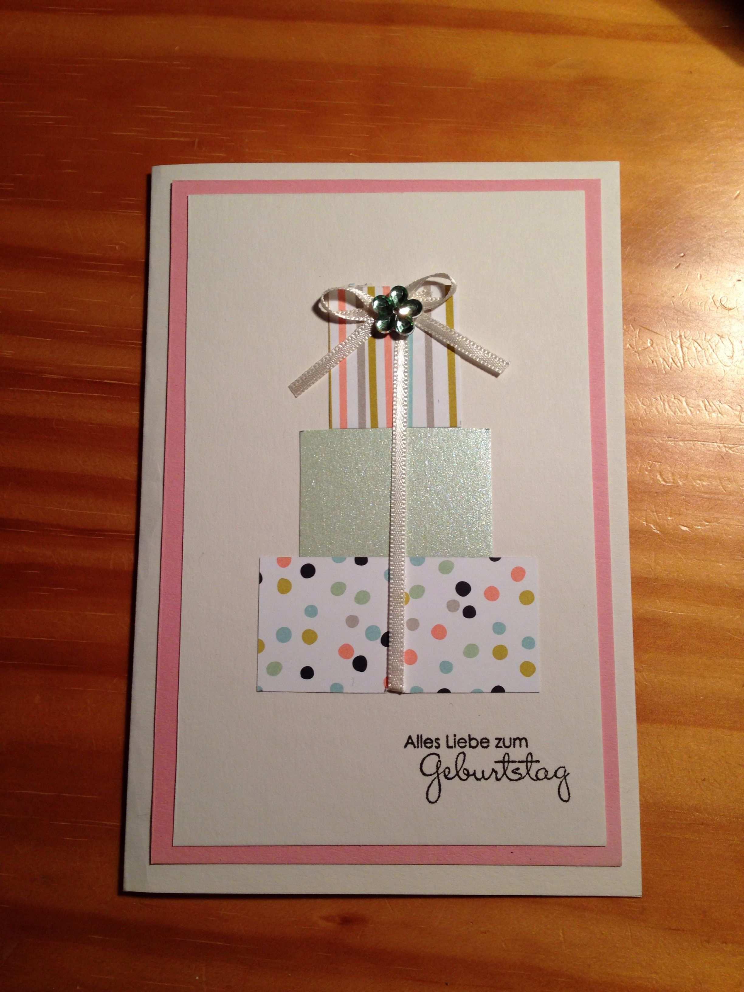 Geburtstagskarte Karten Basteln Geburtstagskarte Karten