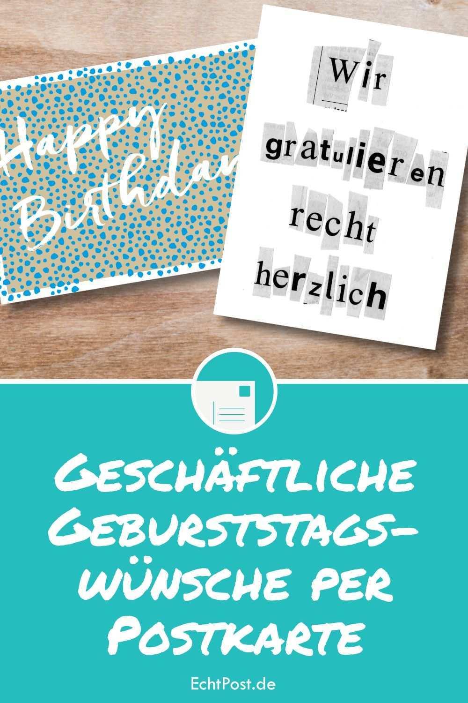 Geschaftliche Geburtstagswunsche Per Postkarte In 2020 Personalisierte Geburtstagskarten Geburtstagswunsche Geburtstagskarte