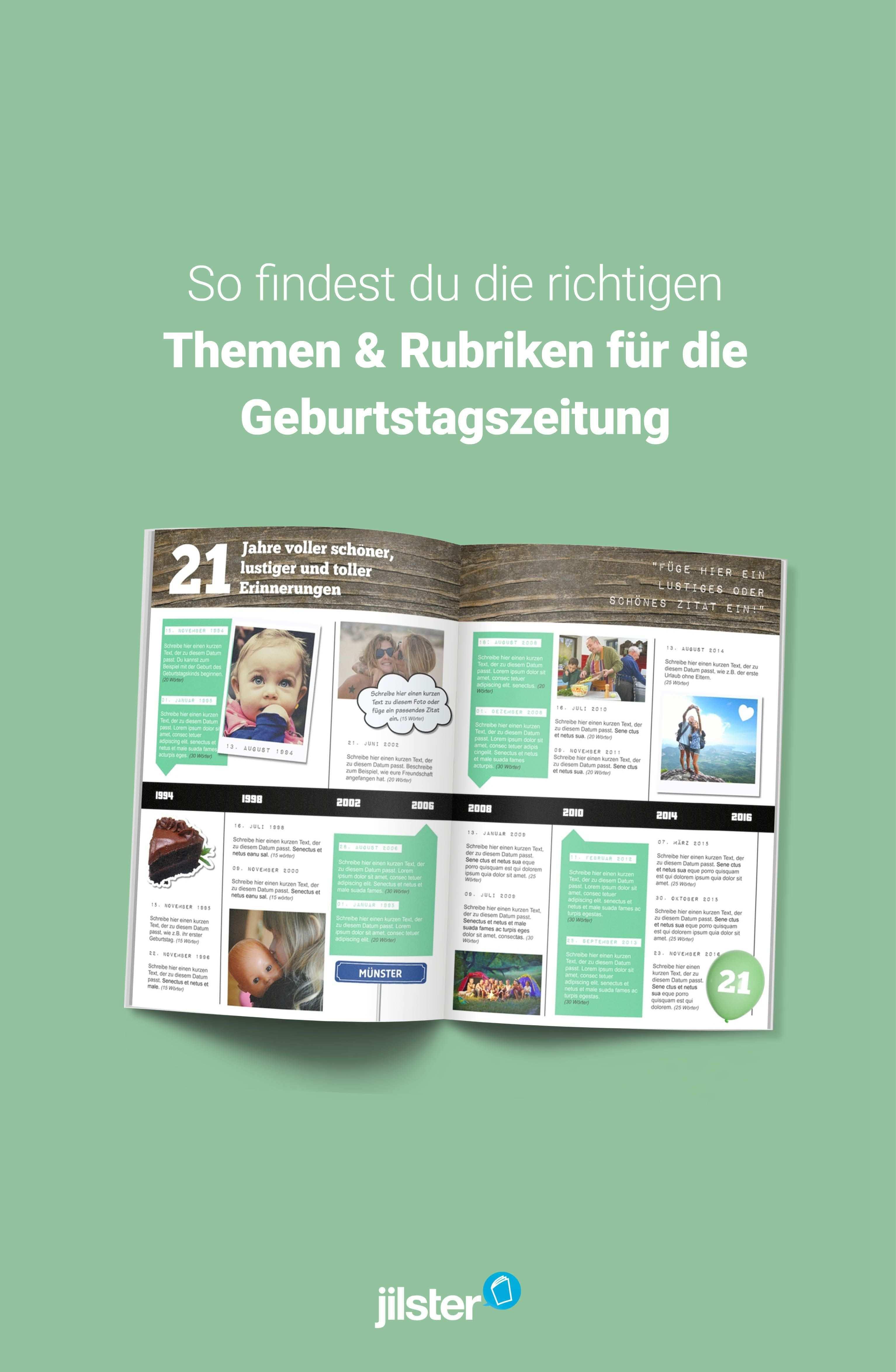 Passende Artikel Fur Die Geburtstagszeitung Schreiben Jilster Blog Geburtstagszeitung Geburtstagsbuch Geburt