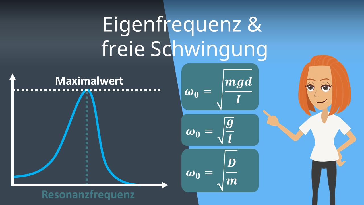 Eigenfrequenz Und Freie Schwingung Frequenz Berechnen Mit Video
