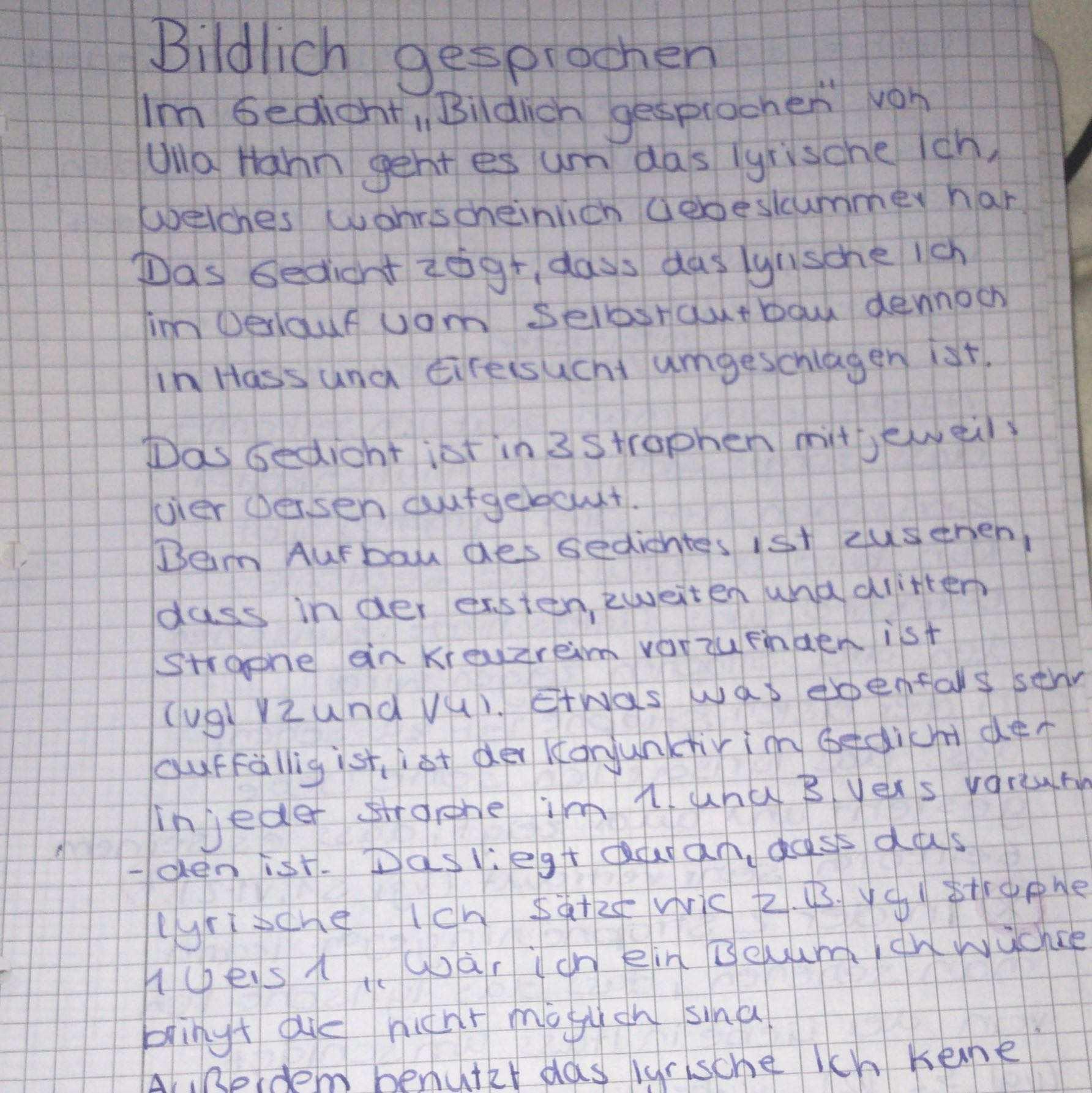 Gedichtinterpretation Was Mache Ich Falsch Schule Deutsch Gedicht