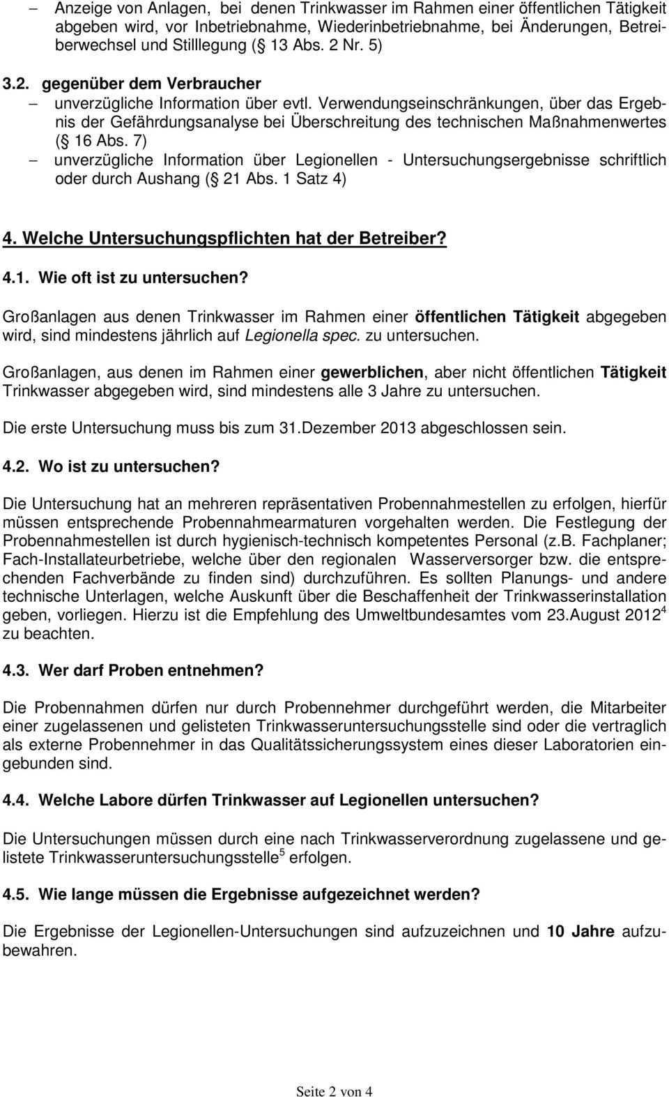 Legionellen Untersuchungen In Trinkwasser Installationen Pdf Kostenfreier Download