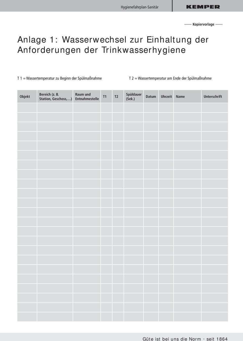 Kemper Hygienefahrplan Sanitar Pdf Kostenfreier Download