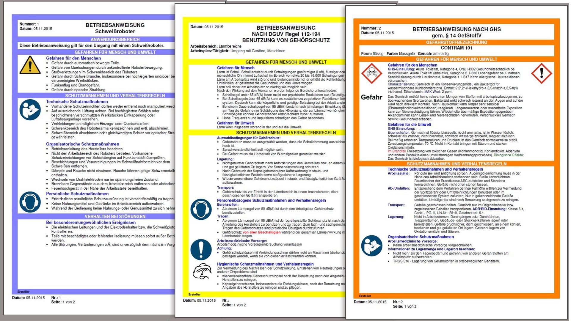 Betriebsanweisung Definition Und Anforderungen