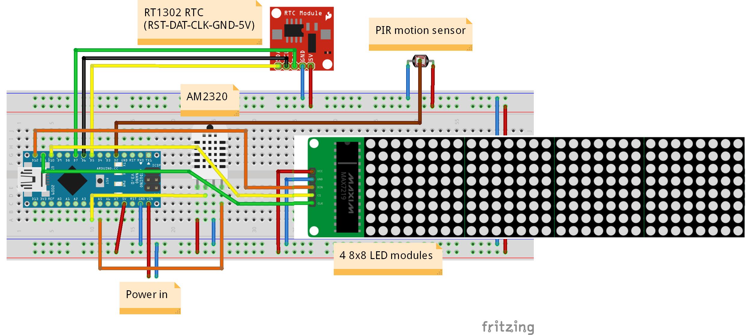 32x8 Led Matrix Display Bb Tpli5qy26x Arduino Arduino Projekte Led