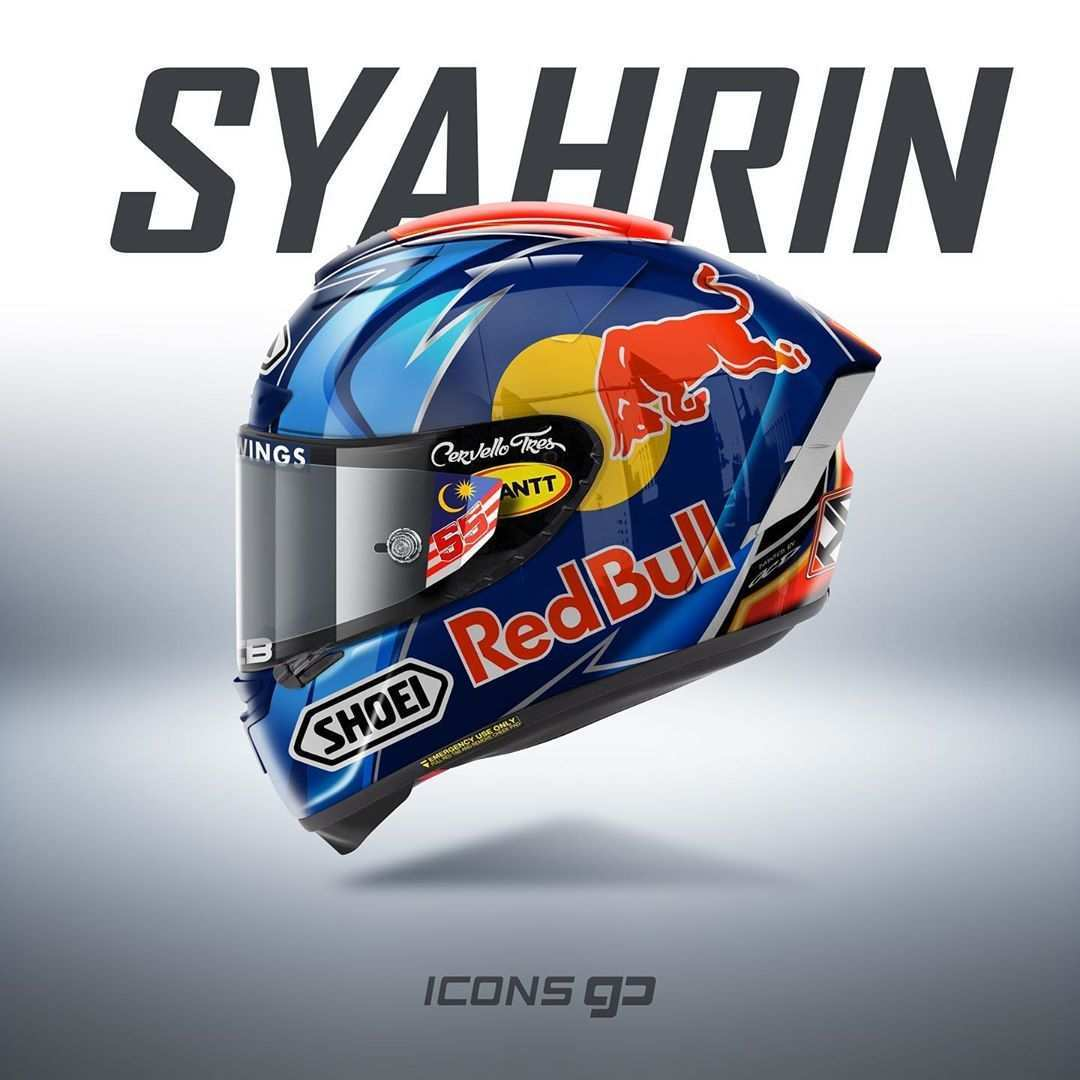 Icons Gp On Instagram H Syahrin Hafizh Syahrin Shoei X Spirit Iii By Shoeihelmetsusa Design By Ocdesign4victory Date 2020 Worldchampionship Moto2 Di 2020