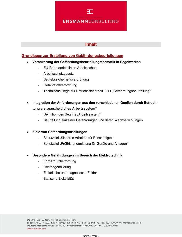 Gefahrdungsbeurteilungen Im Bereich Der Elektrotechnik Pdf Free Download