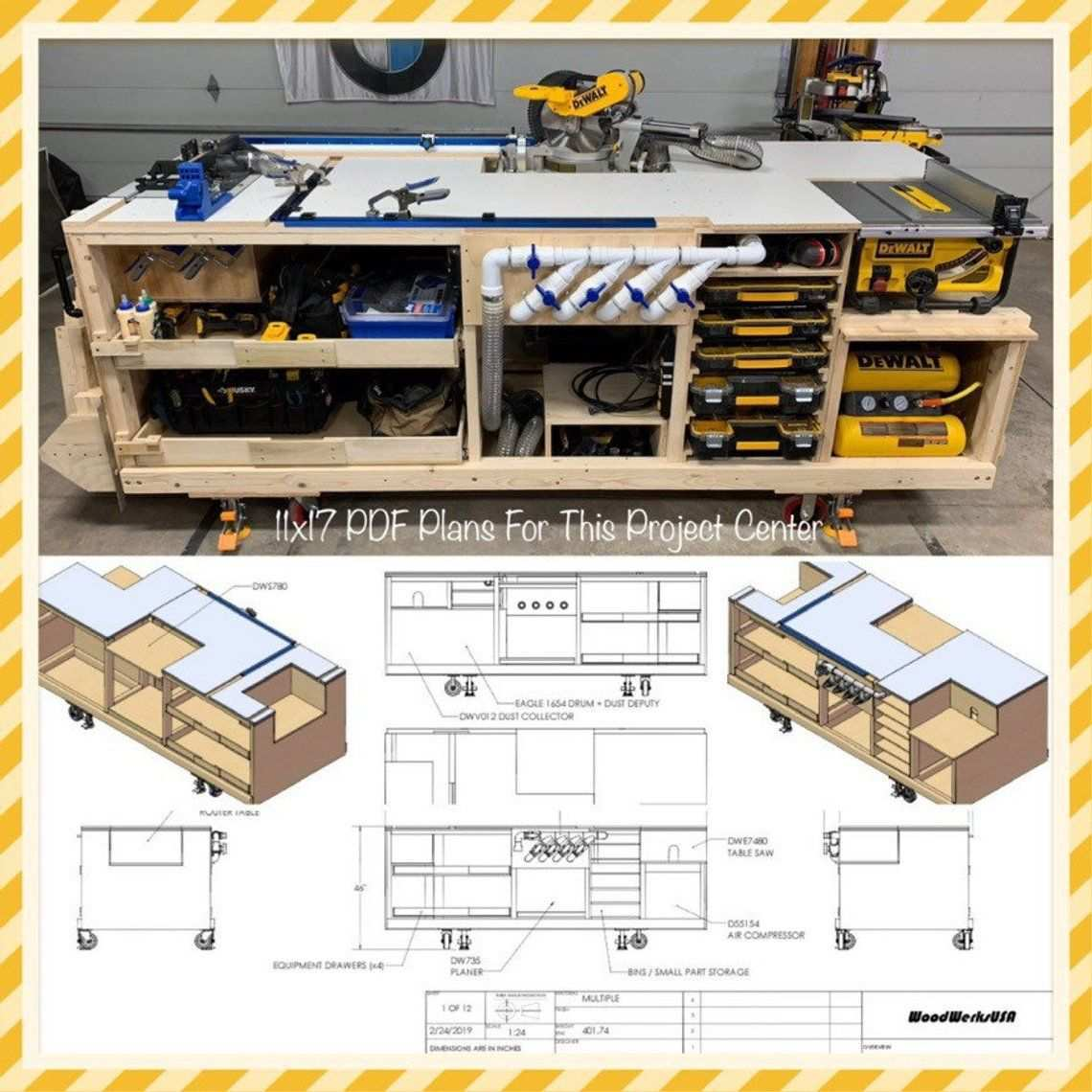 Pdf Mobile Project Center Workbench Plans Dewalt Kreg Etsy Workbench Plans Workbench Plans Diy Mobile Project