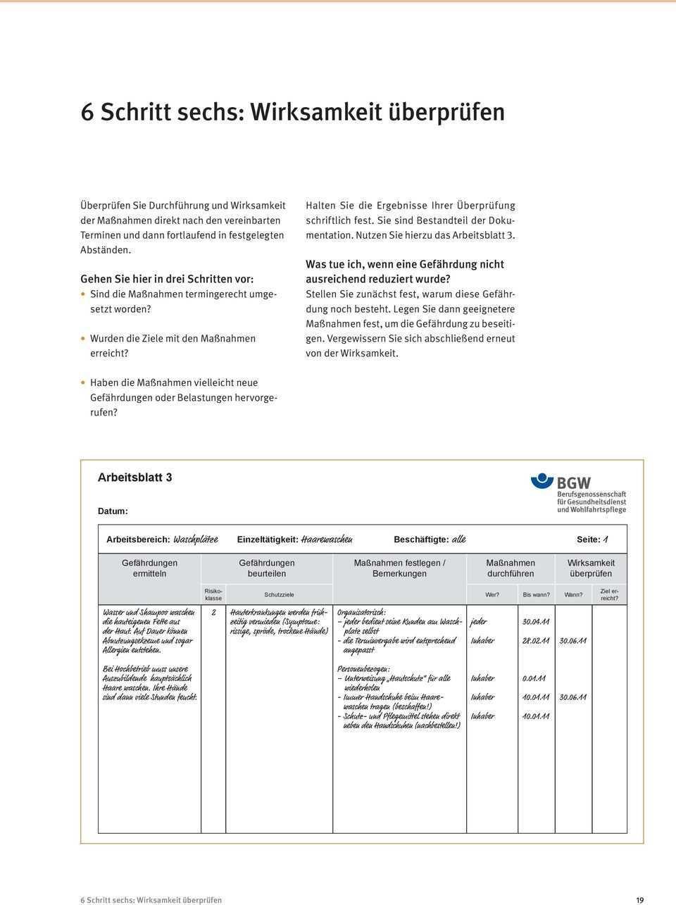 Gefahrdungsbeurteilung Im Friseurhandwerk Pdf Free Download