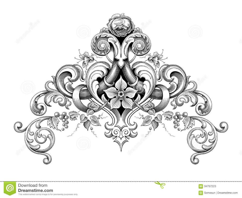 Vintage Baroque Victorian Frame Border Corner Monogram Floral Ornament Scroll Engraved Pattern Tattoo Calligrap In 2020 Victorian Frame Baroque Tattoo Scroll Engraving