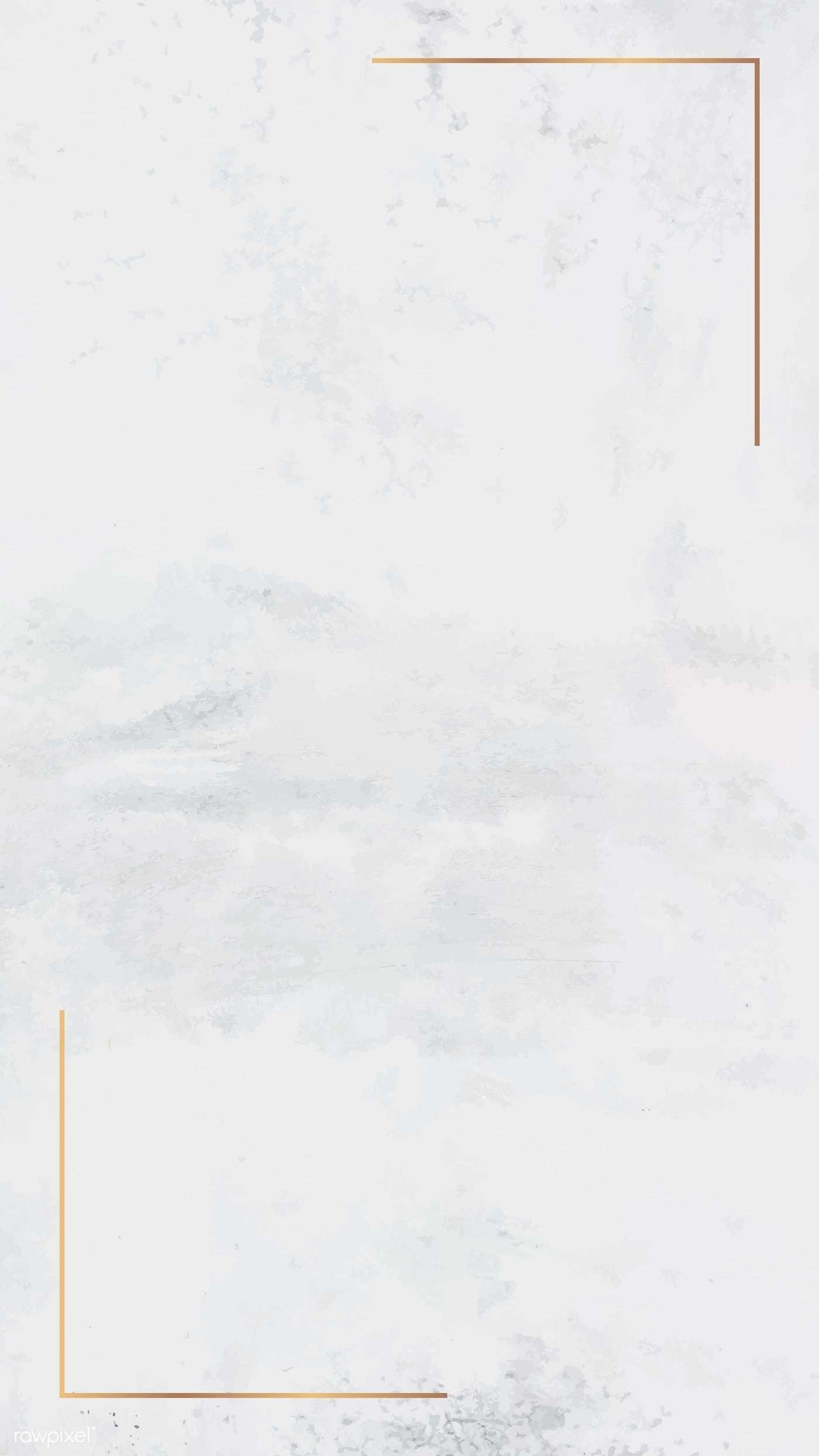 Laden Sie Das Premium Bild Des Goldrahmens Auf Einem Weissen Handy Hintergrundbi Hintergrundmuster Handy Hintergrund Marmor Hintergrund