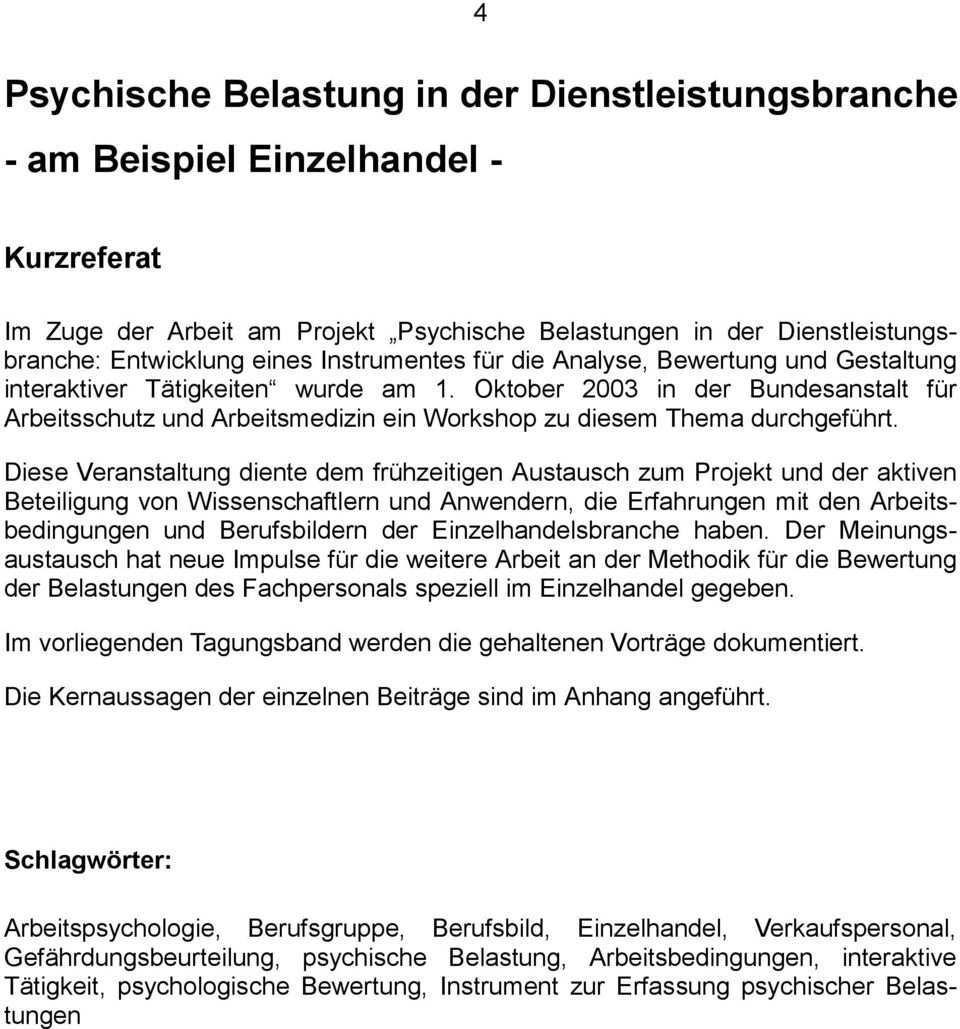 Psychische Belastung In Der Dienstleistungsbranche Pdf Kostenfreier Download