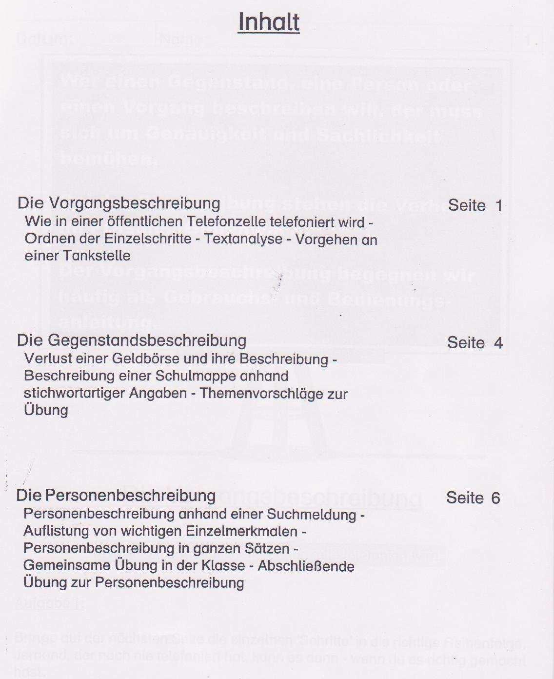 Die Beschreibung Grundschule Kopiervorlagen Amazon De Rudiger Kohl Bucher