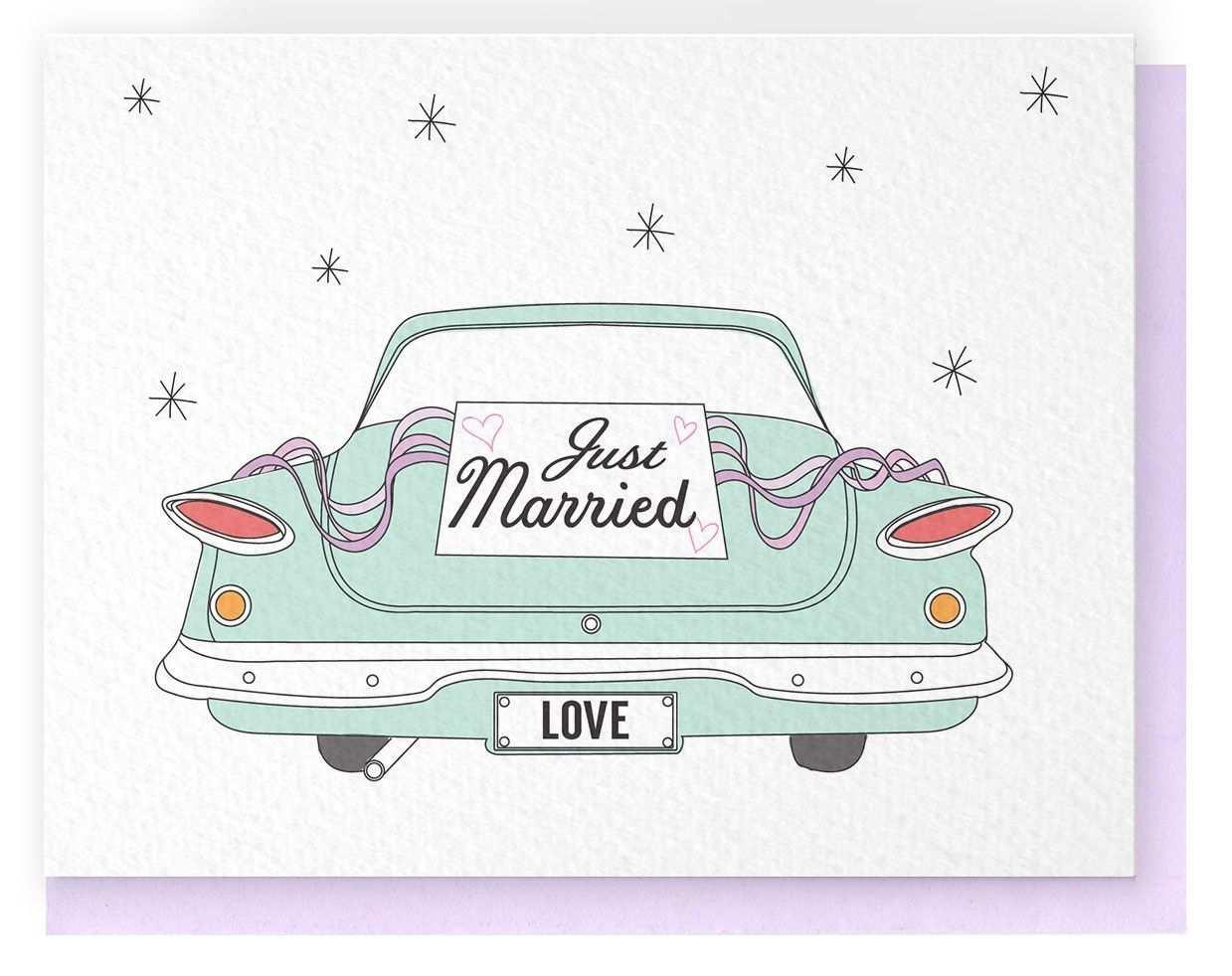 Just Married Car Frisch Verheiratet Auto Geldgeschenke Hochzeit Basteln Frisch Verheiratet