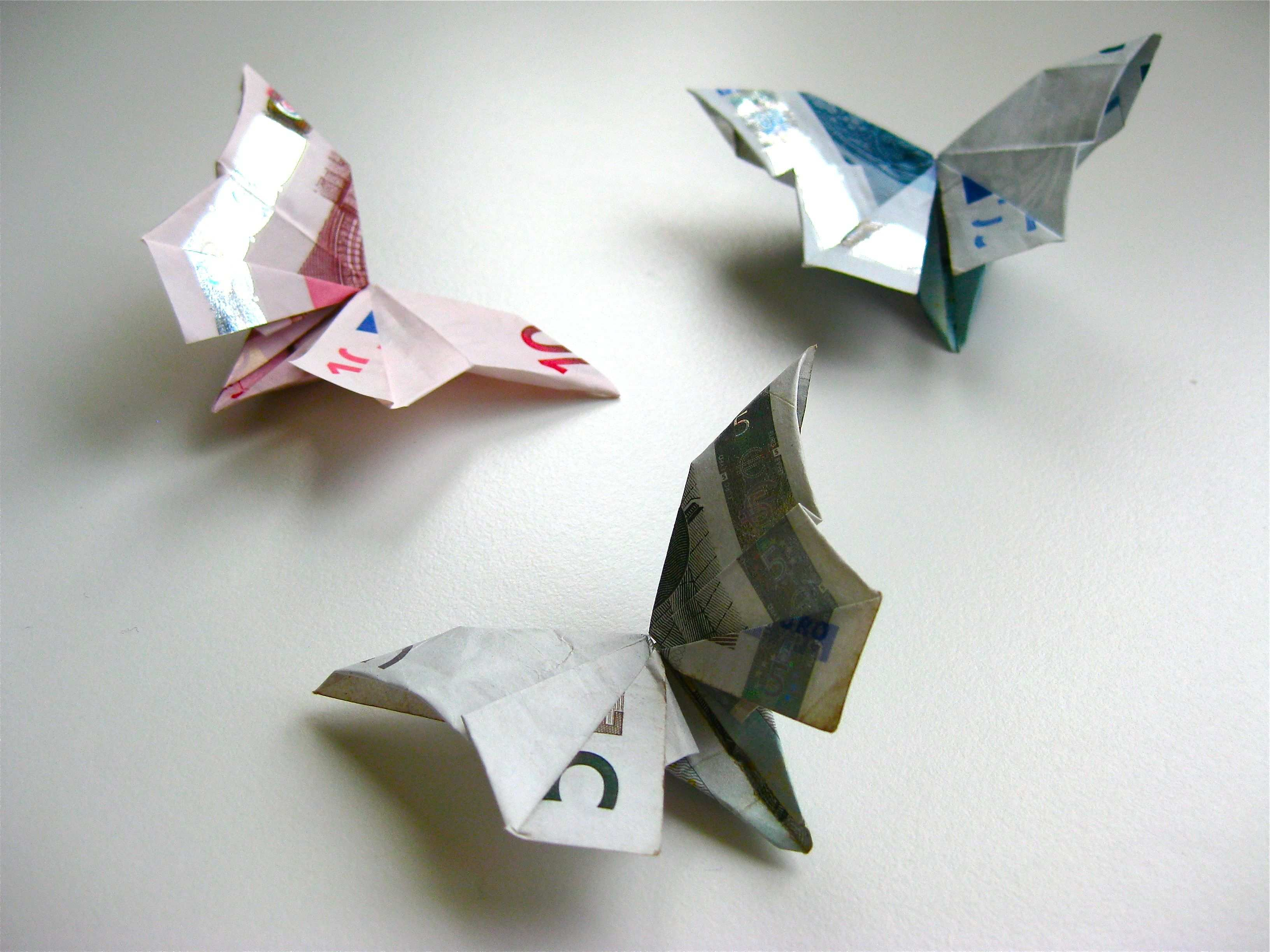 Origami Geldschein Schmetterling Video Anleitung Handmade Kultur Geldschein Schmetterling Geldschein Origami Origami Schmetterling