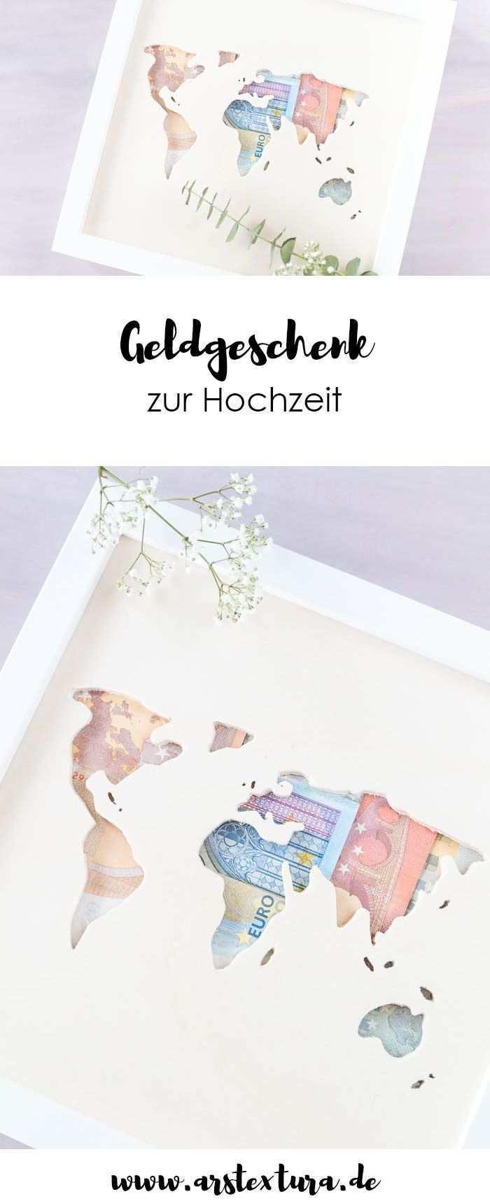Geldgeschenk Zur Hochzeit Weltkarte Aus Holz Mit Geld Ars Textura Diy Blog Geschenke Diy Geschenke Hochzeit Gutschein Basteln Hochzeit