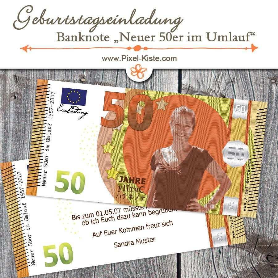 Geburtstagseinladung 50 Euro Banknote Neuer Funfziger Im Umlauf Einladungen Geburtstag Gel Geburtstagseinladungen Einladungskarten Geburtstag Einladungen
