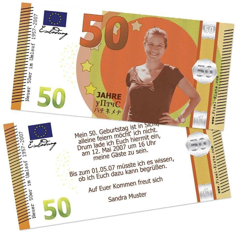 Banknote Geldschein 50 Geburtstag Neuer Funfziger Einladung 50 Geburtstag Geburtstag Einladung Vorlage Einladung Geburtstag