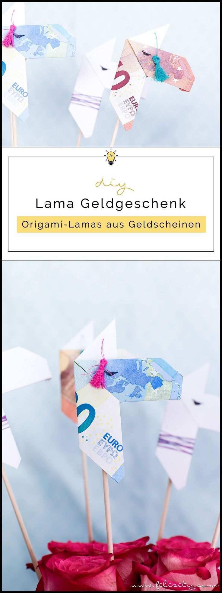 Kreative Geldgeschenke Origami Lamas Aus Geldscheinen Falten Filizity Com Diy Blog Aus Dem Rheinland Geschenke Kreative Geldgeschenke Geldgeschenke