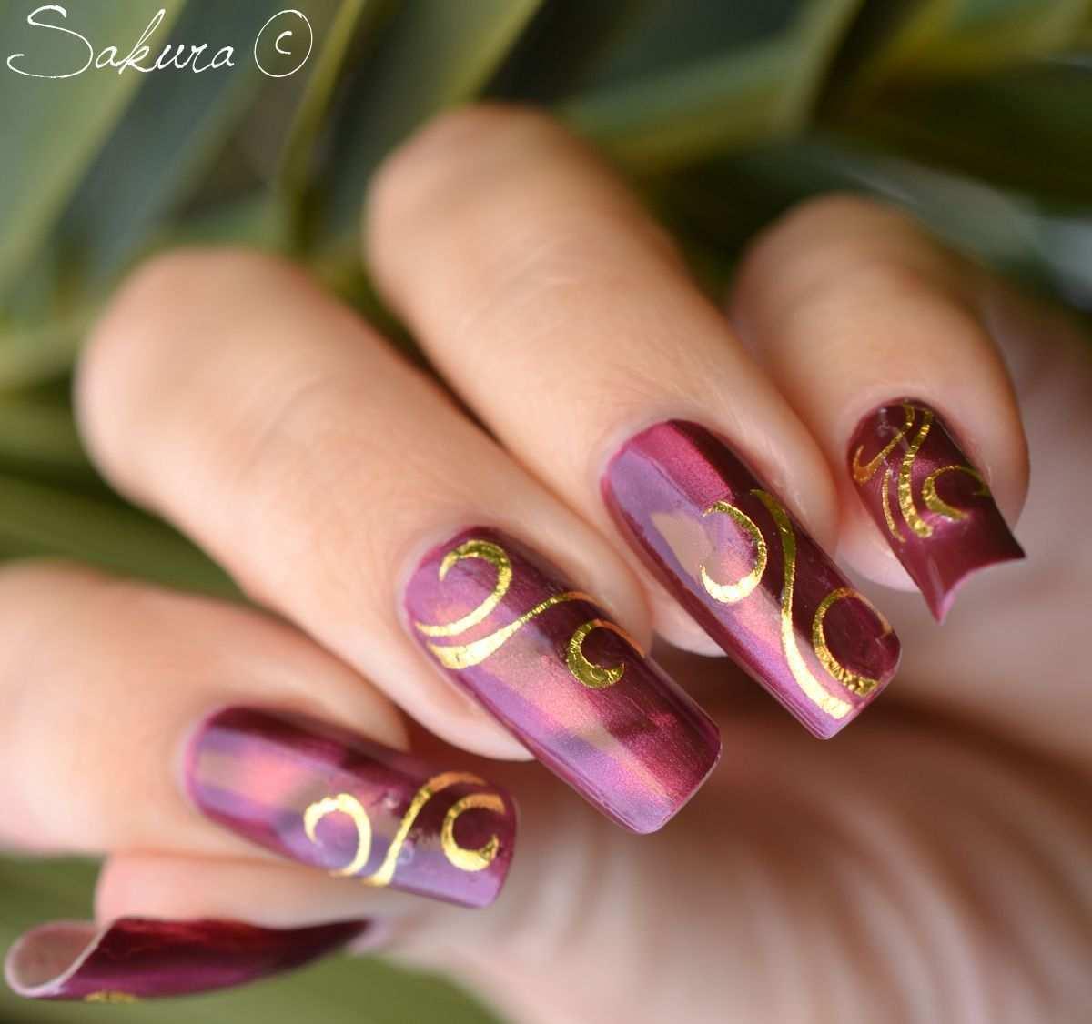 Pin On Obsessed Sakura Nails